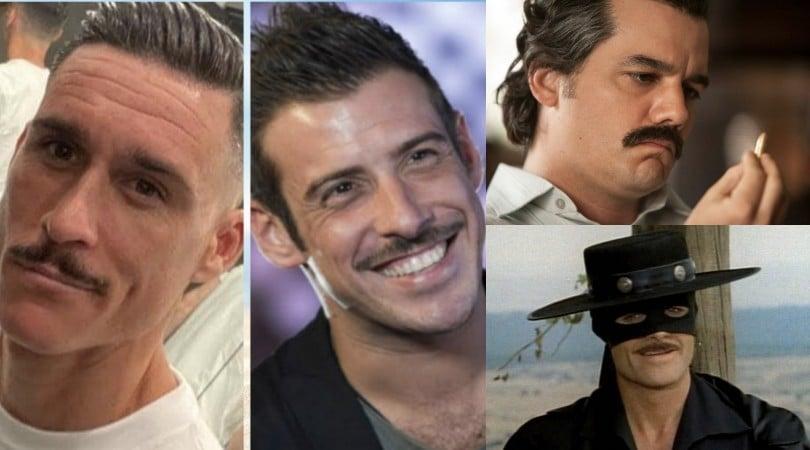 Napoli, Callejon come Gabbani: i baffi fanno il giro del web