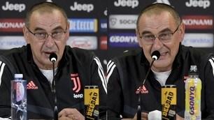 Juve, Sarri in conferenza stampa tra parolacce e risate