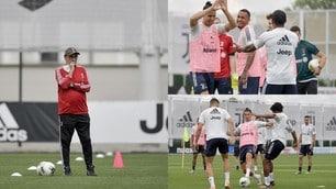 Juve, Sarri prepara la sfida al Napoli: Cristiano Ronaldo è scatenato