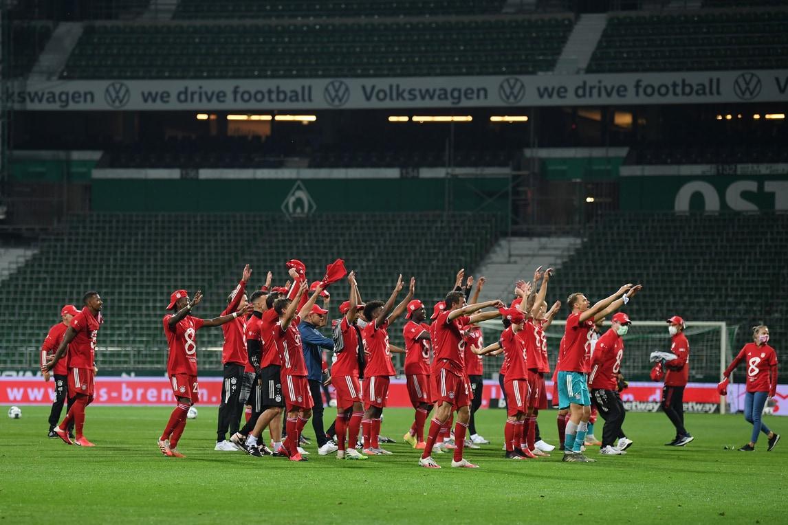 Il Bayern Monaco festeggia il titolo senza tifosi