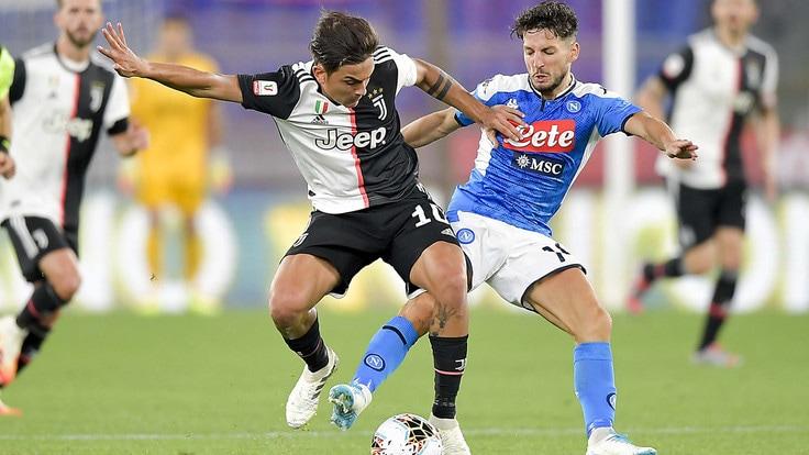Trionfo Napoli in Coppa Italia, Meret strega Dybala e Danilo ...