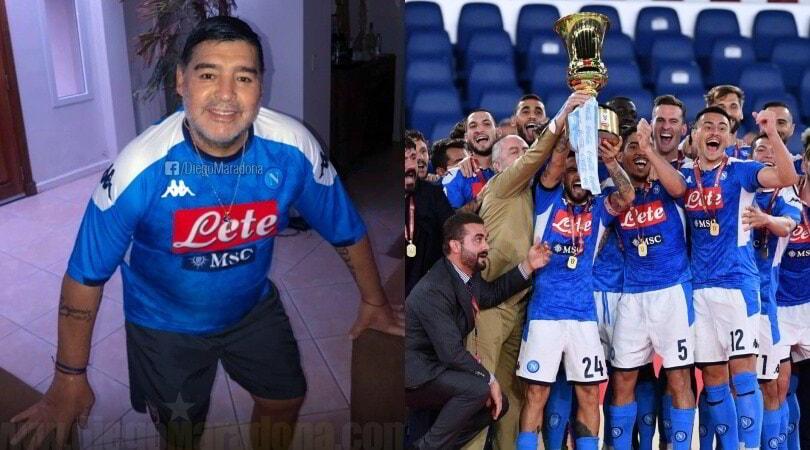 """Maradona: """"Sono orgoglioso di voi. Forza Napoli"""""""