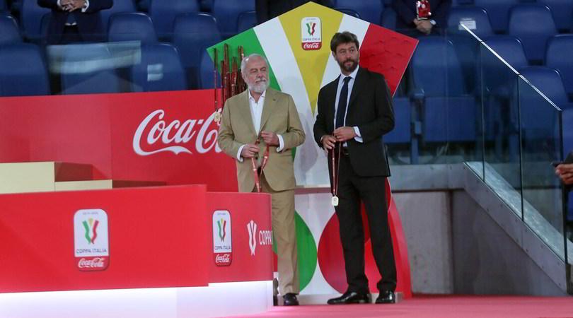 Coppa Italia, il bel gesto di Agnelli: premia il Napoli