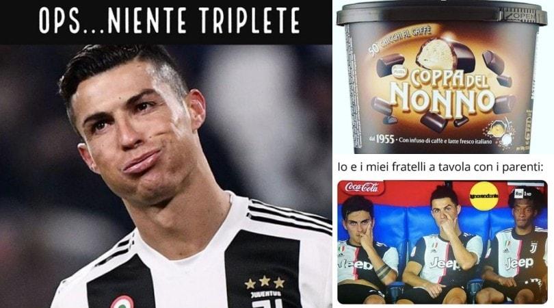 "Napoli-Juve, social scatenati: ""Dov'è il triplete?"""