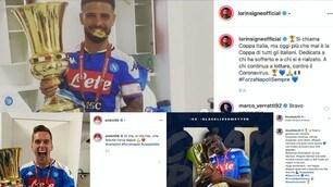 Napoli, la Coppa Italia è tua: la festa dei giocatori sui social