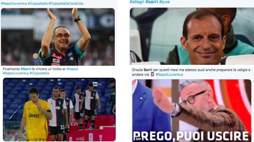 Juve ko con il Napoli, Sarri bersagliato sui social network