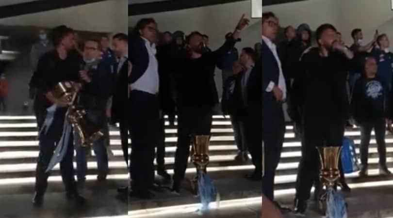 Napoli, Gattuso show ad Afragola. Festa e cori con i tifosi