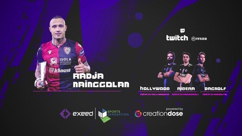 La sfida di Nainggolan su FIFA con i pro player di Exeed
