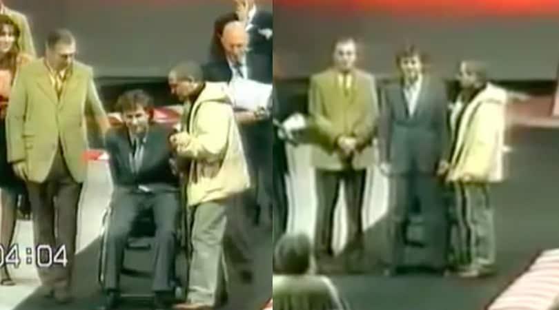 Quando Zanardi si alzò in piedi mandando il pubblico in delirio