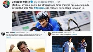 Zanardi, dal Premier Conte a Giancarlo Fisichella: quanto sostegno sui social!