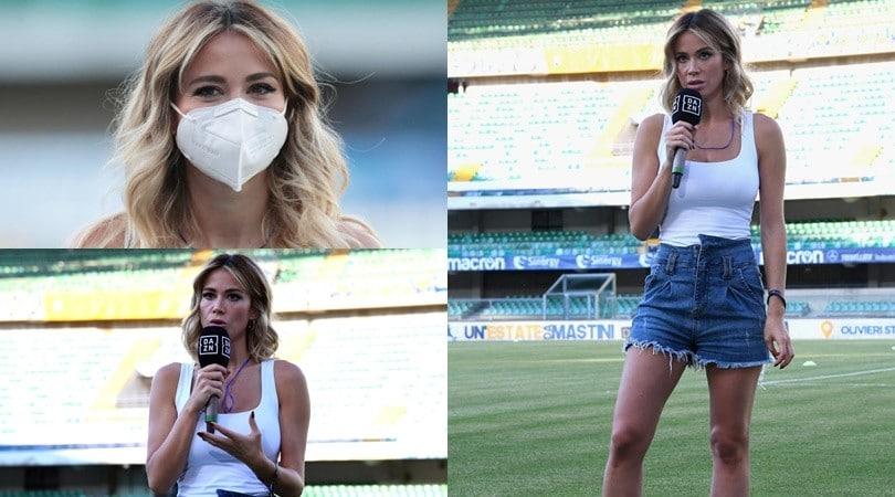 Diletta Leotta, un look mozzafiato per la ripartenza della Serie A