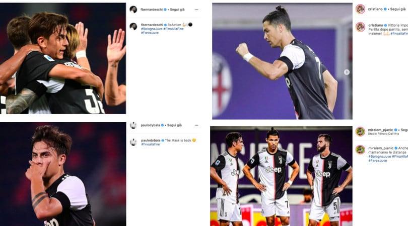 La Juve ritrova il sorriso anche sui social: i post dei giocatori