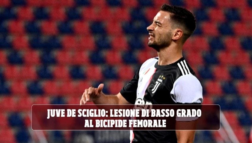 Juve, De Sciglio: lesione muscolare