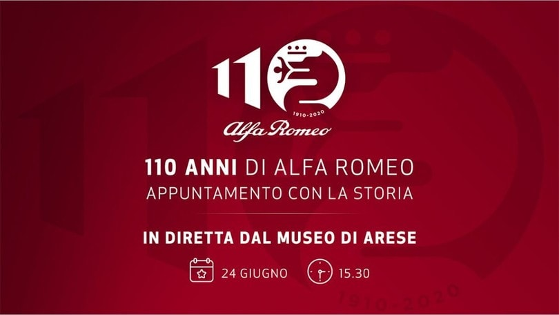 Alfa Romeo, 110 candeline: festa in diretta dal Museo di Arese