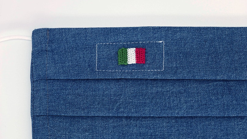 Lapo Elkann, Laps e Angelo Inglese creano la mascherina della resilienza italiana
