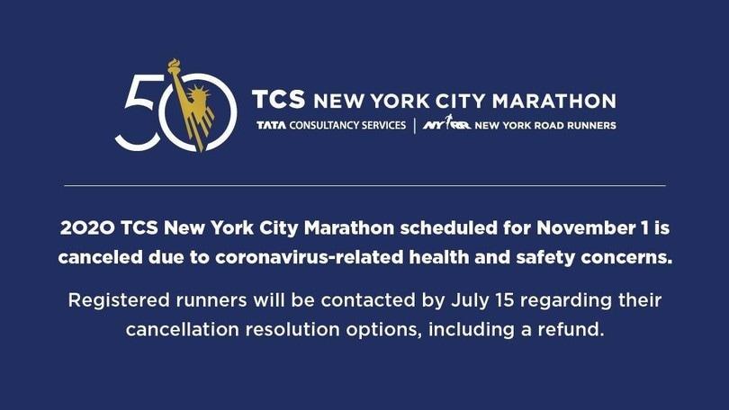 """Coronavirus, cancellata la New York Marathon: """"Salute e sicurezza le priorità"""""""