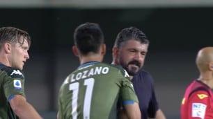 Lozano e Gattuso, abbraccio a fine Verona-Napoli