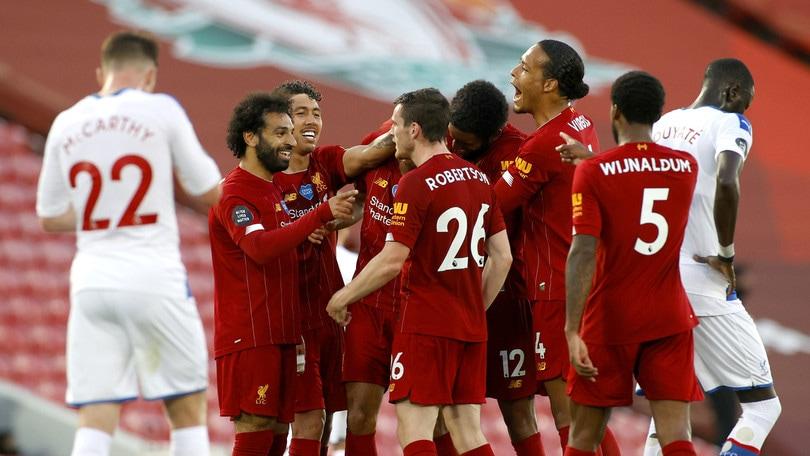Liverpool, poker al Crystal Palace e titolo ad un passo. Ancelotti ritrova il successo