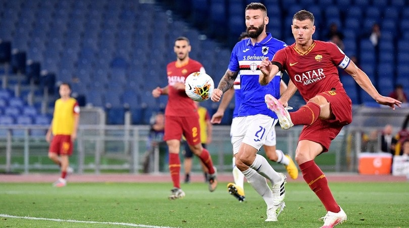 Roma-Sampdoria 2-1, il tabellino