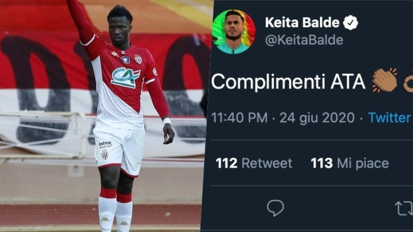 Keita, bufera sui social per i complimenti all'Atalanta