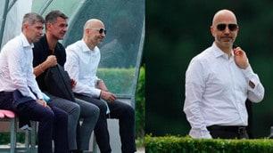 Milan, anche Gazidis con Maldini e Massara all'allenamento