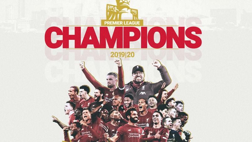 Premier League, il Liverpool è campione