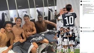 Ronaldo e la Juve fanno festa sui social. Douglas Costa…in cattedra