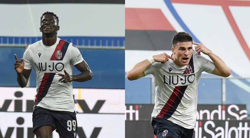 Barrow strepitoso. Il Bologna batte 2-1 la Sampdoria