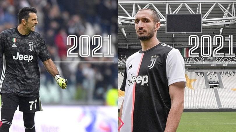 Buffon e Chiellini, ufficiale il rinnovo: con la Juve fino al 2021