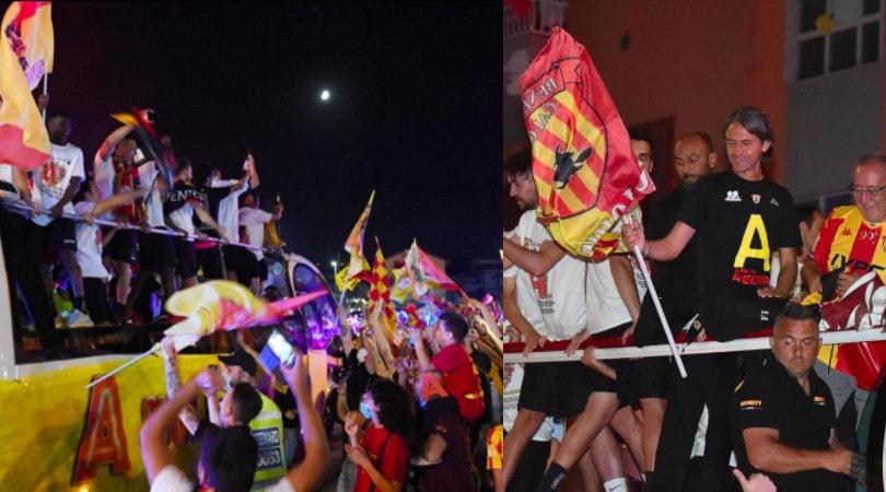 Benevento, grande festa in città per la promozione in Serie A