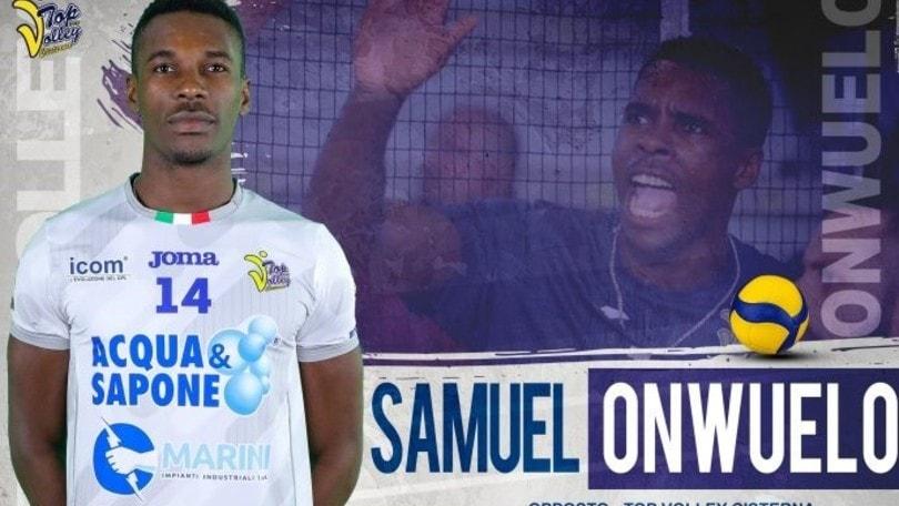 Sam Onwuelo sarà l'opposto di Cisterna anche l'anno prossimo