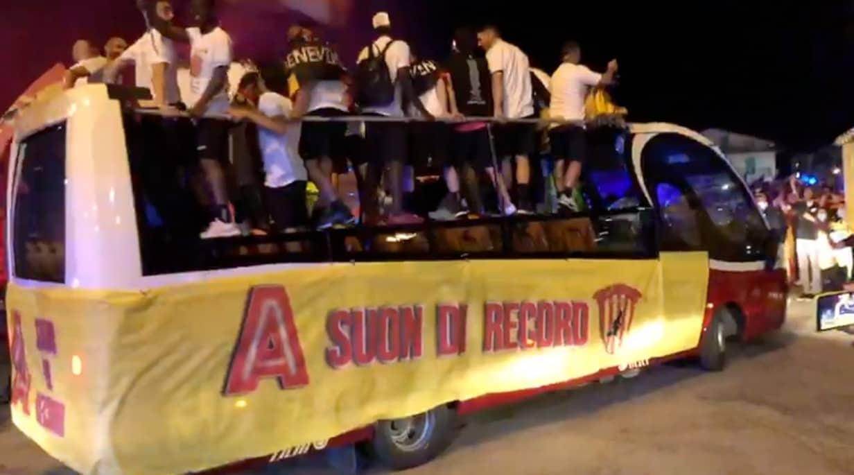 Benevento, una notte di festa per la Serie A!