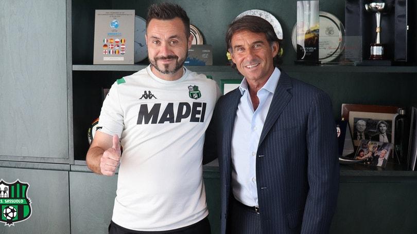 Sassuolo-De Zerbi, avanti insieme fino al 2021: è ufficiale