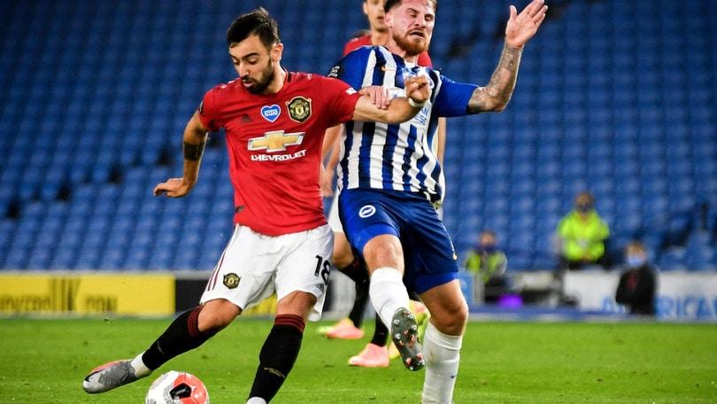 Doppietta di Bruno Fernandes: lo United cala il tris con il Brighton