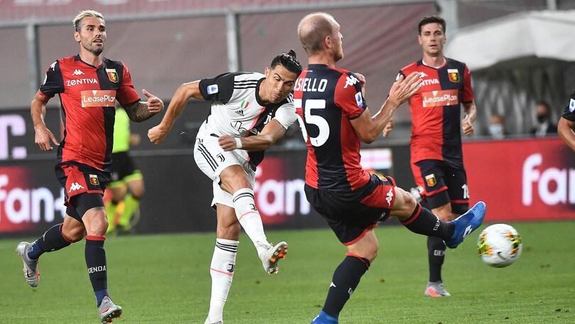 Cristiano Ronaldo, che bolide! Il siluro contro il Genoa oltre i 100km orari
