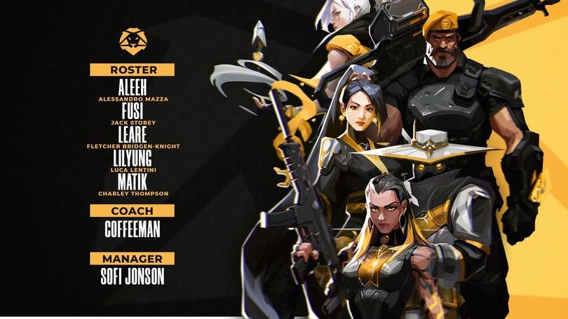HSL: presentato il nuovo team di Valorant