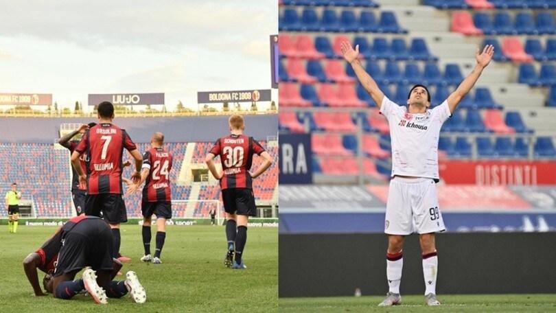 Bologna-Cagliari 1-1: Simeone risponde a Barrow