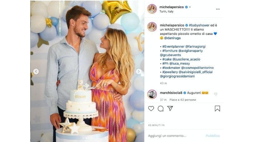 """Rugani e Michela Persico al settimo cielo: """"È un maschietto"""""""