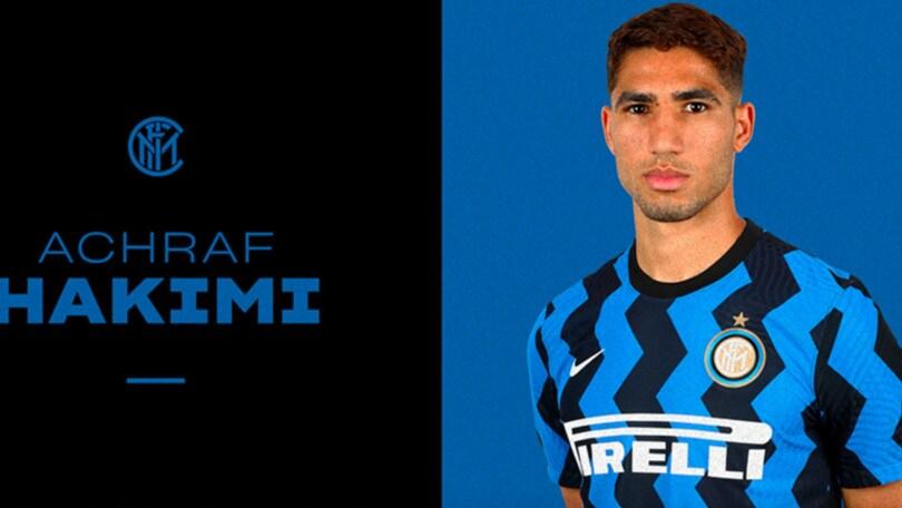 Hakimi all'Inter, è ufficiale: contratto fino al 2025