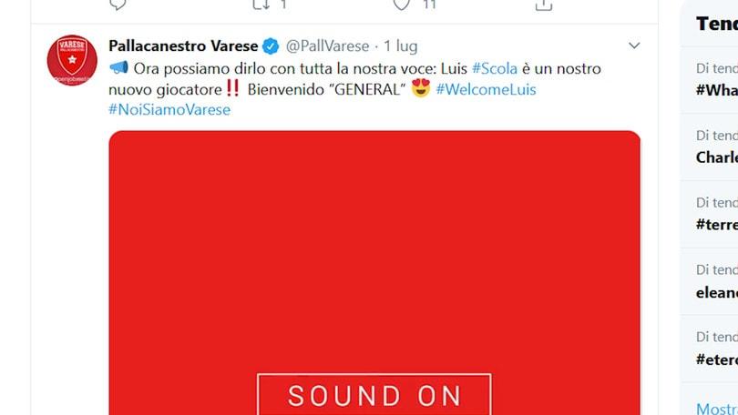 Varese, ufficiale l'ingaggio di Luis Scola