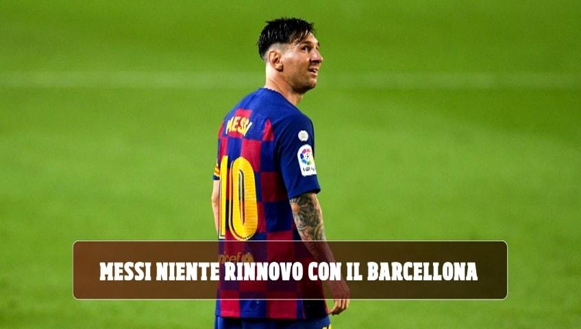 """""""Messi interrompe la trattativa per il rinnovo con il Barcellona"""""""