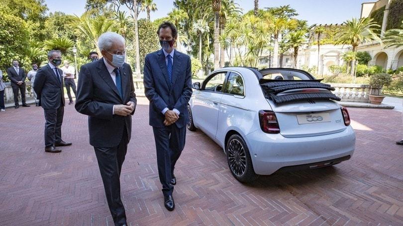 Fiat 500 elettrica, Sergio Mattarella pilota speciale