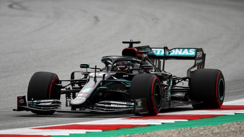 Gp Austria, Hamilton domina anche le libere 3: Leclerc quinto