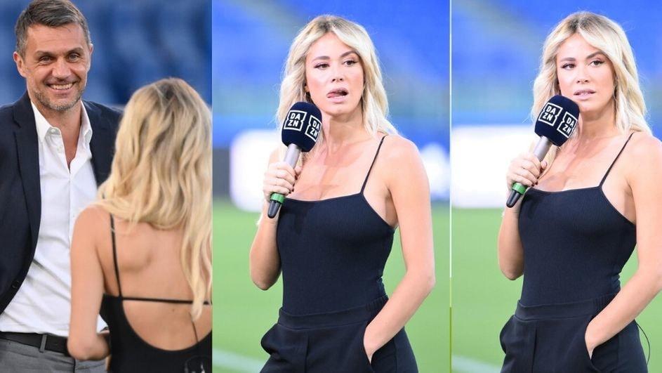 Diletta Leotta show all'Olimpico per Lazio-Milan