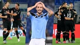 Lazio piegata, tris Milan: all'Olimpico è festa rossonera