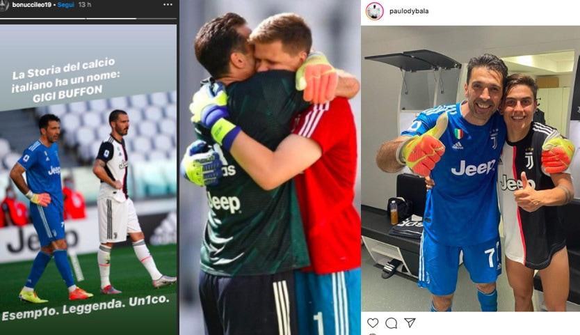 Buffon da record, quanti omaggi sui social network