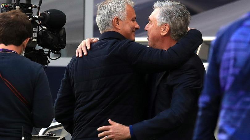 Mourinho batte Ancelotti: l'Everton si allontana dall'Europa