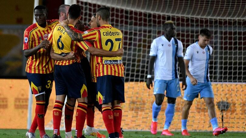 Lecce-Lazio 2-1, il tabellino