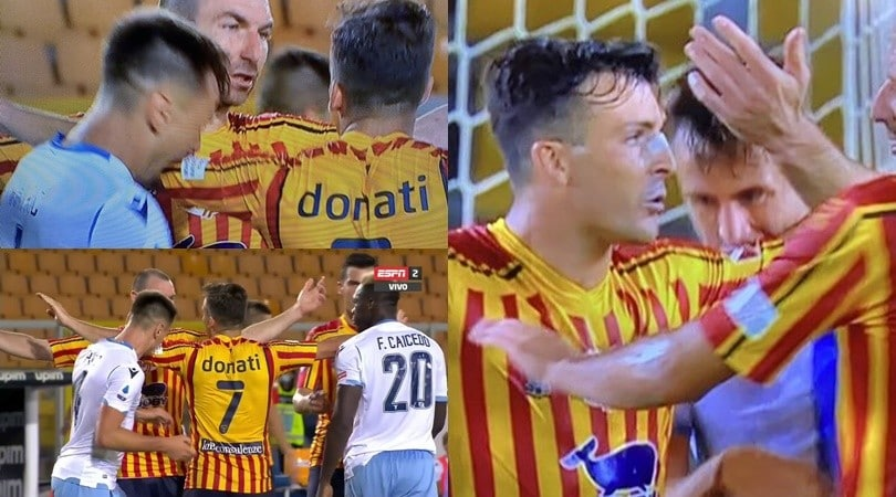 Patric perde la testa: il morso a Donati al 92' di Lecce-Lazio
