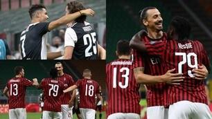 Ibra risponde a Ronaldo, black-out Juve. Il Milan rimonta e fa festa: 4-2!